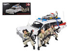 1959 Cadillac Ambulance Ecto 1 with 4 Ghostbusters Figures 1 18 ELITE Hot Wheels