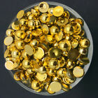 NEW 4mm 400PCS Gold Half Pearl Bead Flat Back Scrapbook for Craf