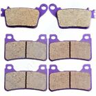 F+R Carbon fiber Brake Pads For HONDA CBR600RR 2007-2011 CBR1000RR 2006-2011