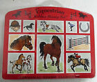 NEW Unmounted PERSONAL STAMP EXCHANGE Equestrian Horses Rubber Stamp Set of 10