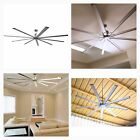 96 Inch Big Contemporary Modern Fan Silver Metal Nickel 9 Blades Industrial