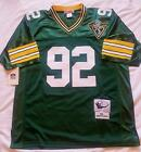 GREEN BAY PACKERS REGGIE WHITE 92 GREEN THROWBACK JERSEY AUTHENTIC SEWN NWT