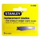 STANLEY TOOLS 10 410 General Cutting Curving Hobby Knife Replacement Blades 3 PK