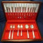 1954 Silverplate Mountain Rose Pattern - Rogers DeLuxe - 46 Pieces - SHIPS FREE