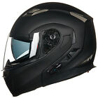 Bluetooth Integrated Modular Flip Up Dual Visor Full Face Motorcycle Helmet