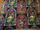 NEW Zelda Stained Glass 59 inch Fleece Fabric by the YARD Gorgeous