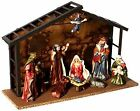 KURT S ADLER 10 PIECE NATIVITY SET 9 PORCELAIN FIGURINES 35 5