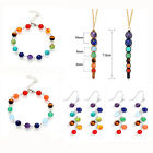 Agate Amethyst Natural Stone Beads 7 Chakra Drop Eearrings / Bracelet / Necklace