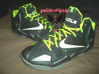 NIKE LEBRON XI dunkman 616175-300 green volt with volt laces