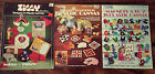 Lot of 3 of Plastic Canvas Pattern Books: Ziggy, Coasters & Magnets