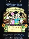 Disney Aulani Resort 5th Anniversary Mickey  Minnie Hawaii LE Pin NEW