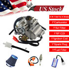 24mm GY6 150cc Carburetor Race CDI Coil Air Filter Carb