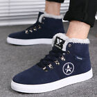 Mens Warm Lined Casual Suede Loafers High Top Sneakers Ankle Boots Shoes W308