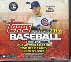 2015 TOPPS UPDATE SERIES BASEBALL JUMBO FACTORY SEALED HOBBY 6 BOX CASE