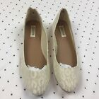 Groove Flats Size 8 Cream Cheetah Lace New