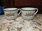 FITZ AND FLOYD WINTER HOLIDAY COFFEE MUGS SET OF TWO