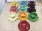 Lot of 20 Fiesta Fiestaware Tea Cups and Saucer sets 10 cups 10 saucer plates