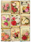 9 Vintage Seed n Flowers Hang Tags Scrapbooking Paper Crafts ATC Cards 180