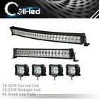 30inch LED Light Bar Curved 32''+22'' Combo +4'' Pods Offroad for Dodge Ram 1500