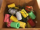 5 Sets Of Vintage Party Patio Camp Blow Mold Lantern String Lights 1960's Tiki
