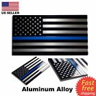 ALUMINUM Blue Lives Matter Thin Blue Line American Flag decal sticker 32 x 175