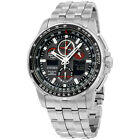 Citizen Eco-Drive Black Dial Stainless Steel Men's Watch JY8050 51E