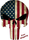 PUNISHER AMERICAN USA SNIPER COLOR FLAG SKULL DIE CUT VINYL DECAL STICKER