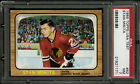 1966 1966-67 TOPPS USA TEST HOCKEY #62 STAN MIKITA CENTERED SHARP PSA 7+