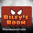 SPIDERMAN Personalized Custom ANY NAME or TEXT Room Door SIGN Wall Plaque New