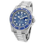 ROLEX 18K White Gold 40mm Submariner Ceramic Blue Smurf 116619 2016 Warranty