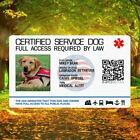 Service Dog Id Card Customized Holographic ESA ADA SEAL