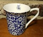Queen's VICTORIAN CALICO Mug, Beaker Blue & White Chintz, Floral China Churchill