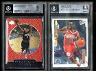 LOT (2) Allen Iverson 76ers 1996-97 Ultra GOLD MEDALLION Rookie