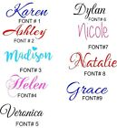 PERSONALIZED VINYL NAME DECAL STICKER UP TO 10 CHARACTERS