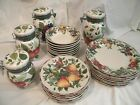 28 Pieces NEVER USED Sakura Oneida Excell Sonoma Plates Bowls 4 pc Canister SET