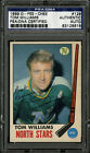1969-70 1969 O-PEE-CHEE OPC HOCKEY #128 TOMMY WILLIAMS PSA DNA AUTOGRAPHED