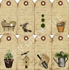 8 Garden Topiary Hang Tags Cards Scrapbooking Paper Crafts 183