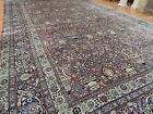 Antique Lavar Kerman Persian Rug 12x20 Oriental Blue Red Tree RARE size