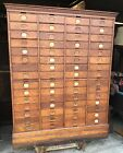 VICTORIAN OAK AMBERG FILE CO. MULTI-DRAWER FILE CABINET