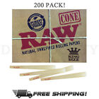 RAW Classic King Size Authentic Pre-Rolled Cones with Filter (200 Pack)