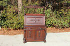 Fabulous Walnut Victorian Original Finish Boston Slant Front Desk w Key Ca.1870