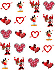 Spring Holiday Mouseketeer Waterslide Water Transfer Nail Decals Nail Art