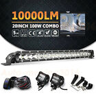 7x6 Led Headlight +12 Led Driving Light Bar For Jeep Cherokee YJ 4WD Offroad