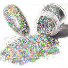 Holo Laser Glitter Nail Sequins Shining Silver Hexagon Tips Manicure Nail Art