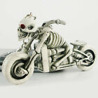 COOL Rubber Skeleton Skull On Motorcycle Thriller Keychain Key Ring Key Chain