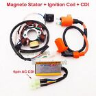 GY6 50cc Magneto Stator Racing Ignition Coil CDI Box Moped Scooter ATV Go Kart