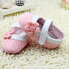 Infant Baby Girl Dot Flower Soft Sole Toddler Leather Crib Shoes Prewalker 0 18M