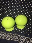FIESTA 1990s Chartreuse SALT and PEPPER SHAKERS (Never Used)