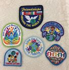 6 Vintage Girl Scout Thinking Day Patches