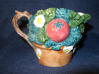 Rare HTF Fitz and Floyd Coq Du Village Vegetable Creamer GUC Brown+Multi Colors